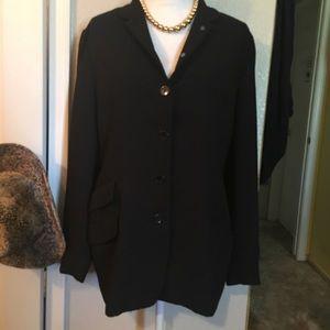 Ellen Tracy black blazer 12